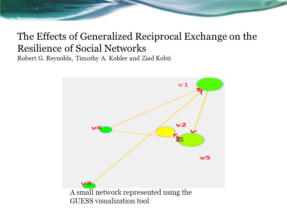 The Effects of Generalized Reciprocal Exchange on the Resilience of Social Networks Robert G.