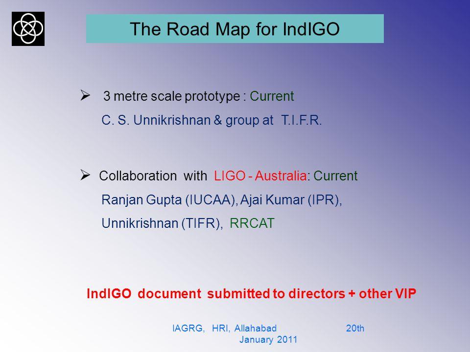Members of IndIGO consortium IAGRG, HRI, Allahabad 20th January 2011 1.