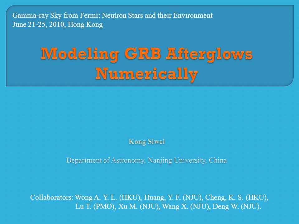 (1) Interstellar medium (Standard model); (2) Stellar wind (Dai & Lu 1998, Chevalier & Li 2000, Gou et al.