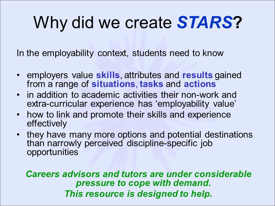 Why did we create STARS.