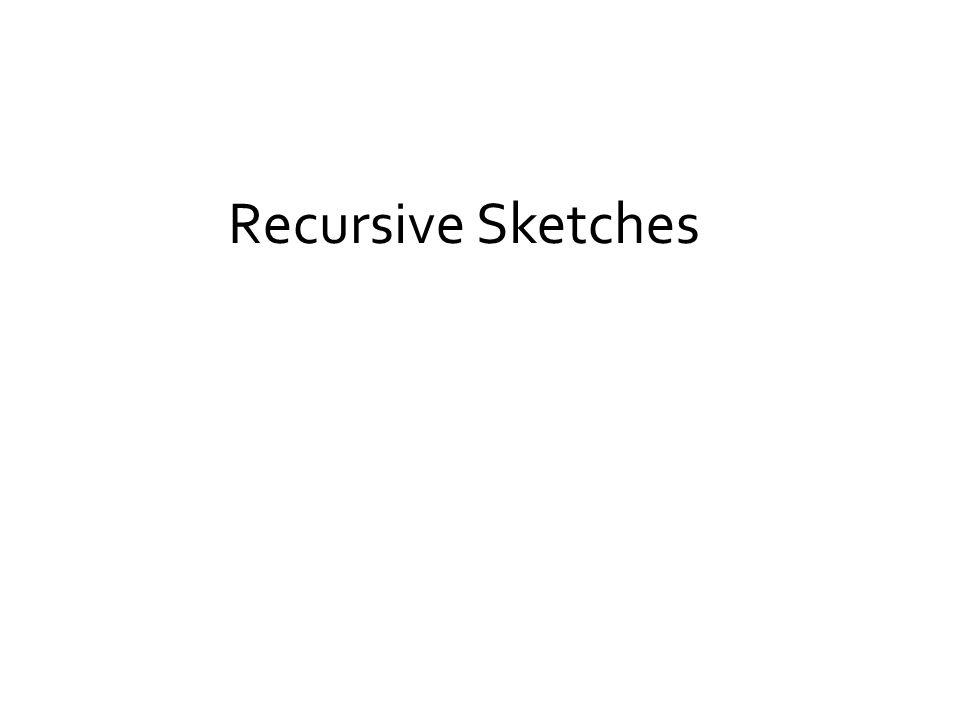 Recursive Sketches