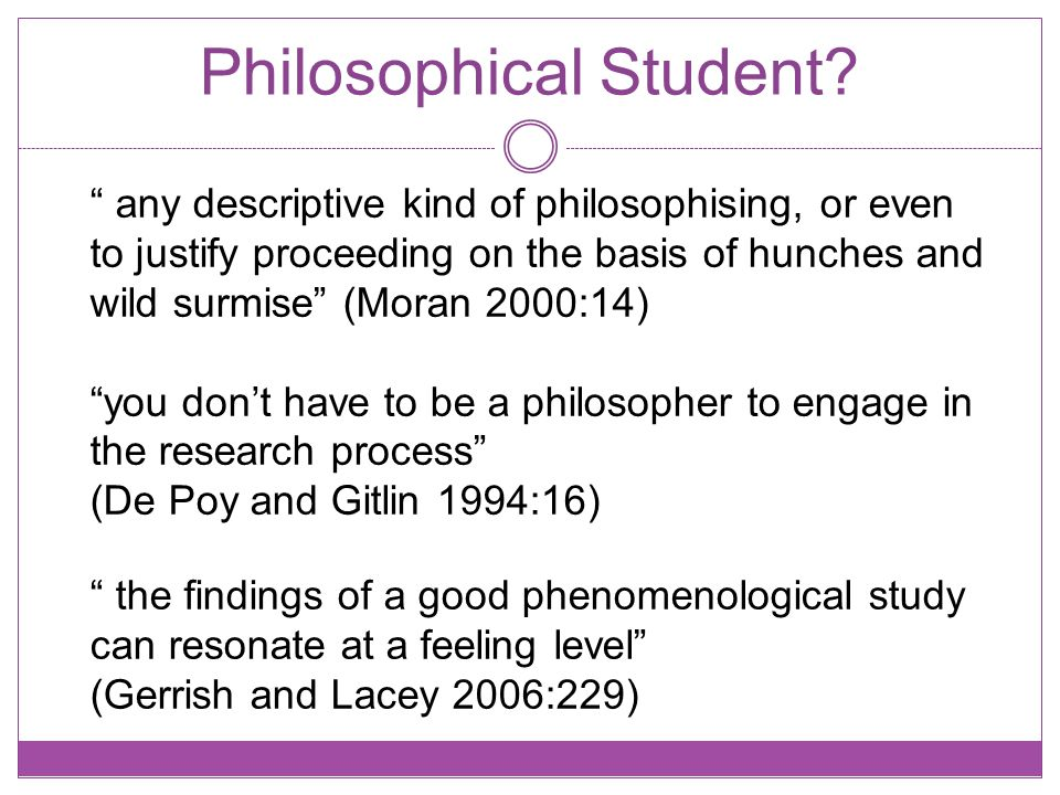 Philosophical Student.