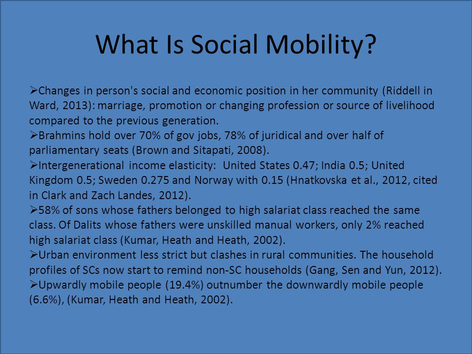 What Is Social Mobility.