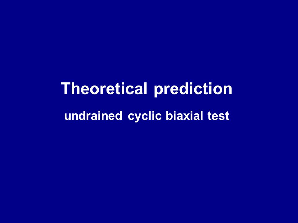Theoretical prediction undrained cyclic biaxial test