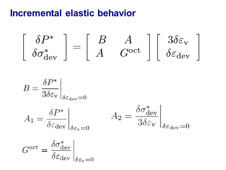 Incremental elastic behavior