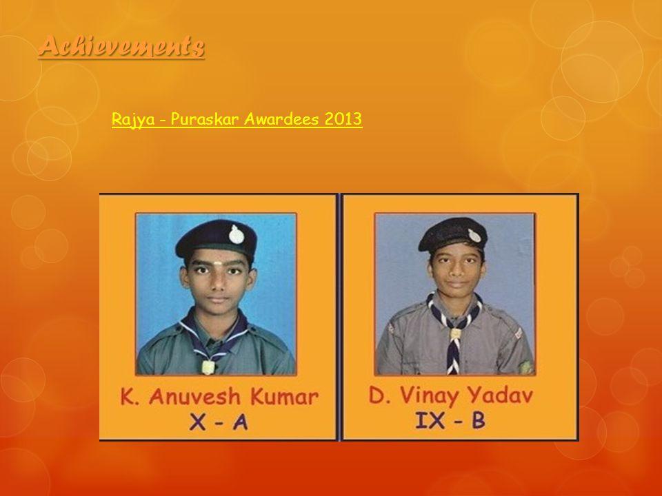 Achievements Rajya - Puraskar Awardees 2013