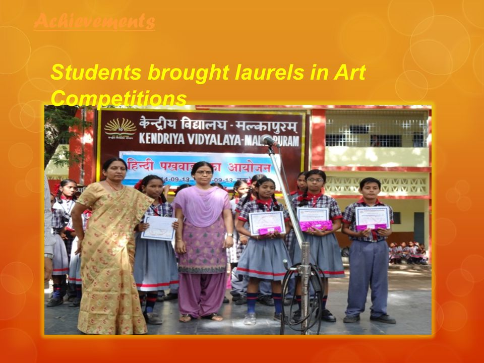 Achievements Students brought laurels in Art Competitions