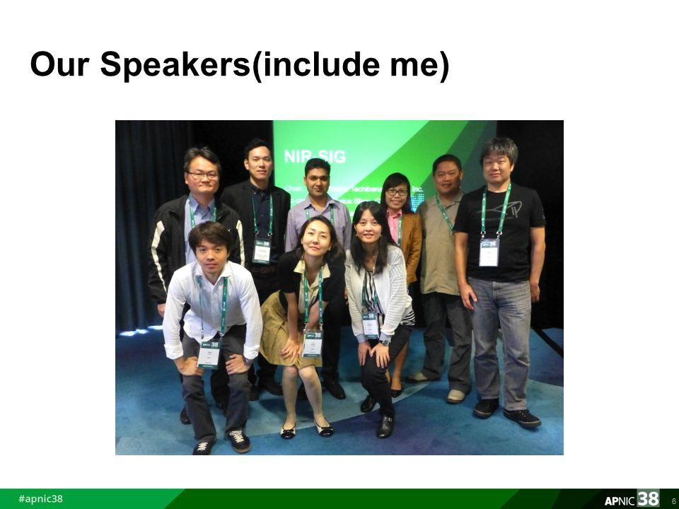 Our Speakers(include me) 6