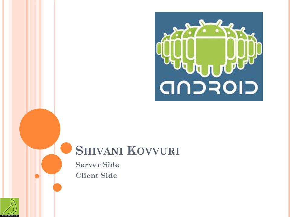 S HIVANI K OVVURI Server Side Client Side