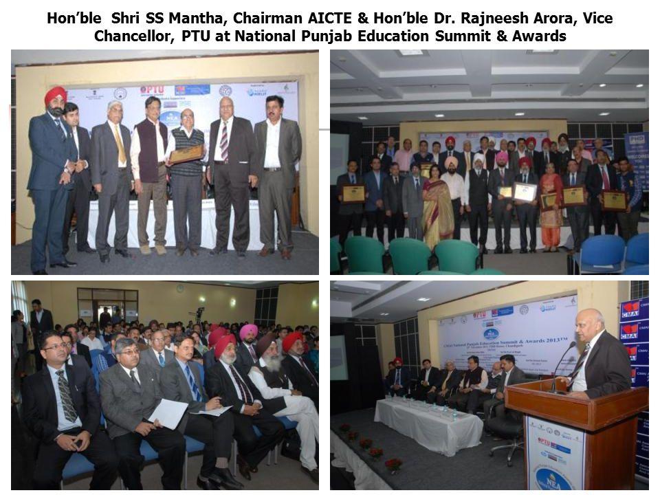 Hon'ble Shri SS Mantha, Chairman AICTE & Hon'ble Dr.