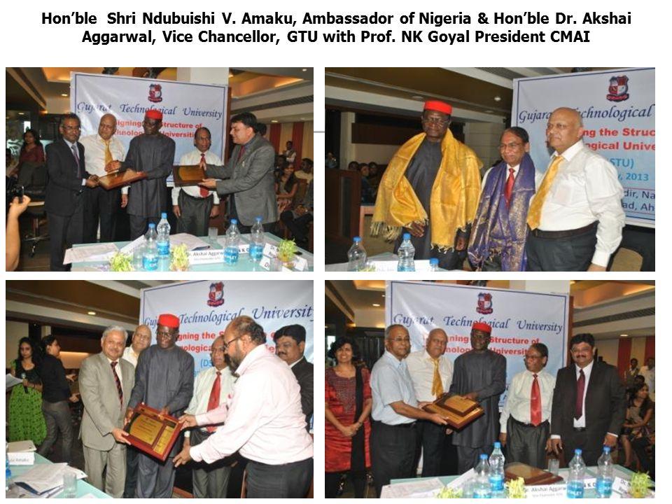 Hon'ble Shri Ndubuishi V. Amaku, Ambassador of Nigeria & Hon'ble Dr.