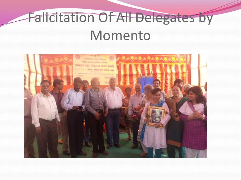Falicitation Of All Delegates by Momento