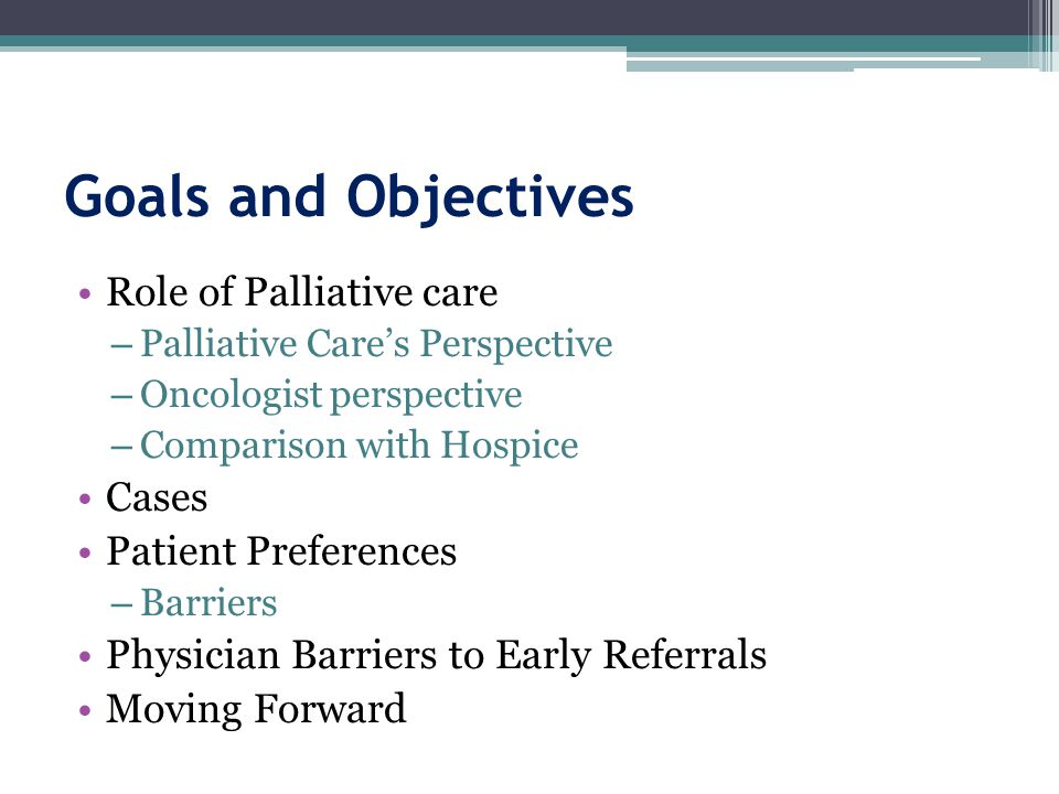 Benefits of Adding Palliative Care Services to Metastatic Cancer Care: Improved: ▫ Overall survival in NSCLC= 2.6 months (11.6 months vs.