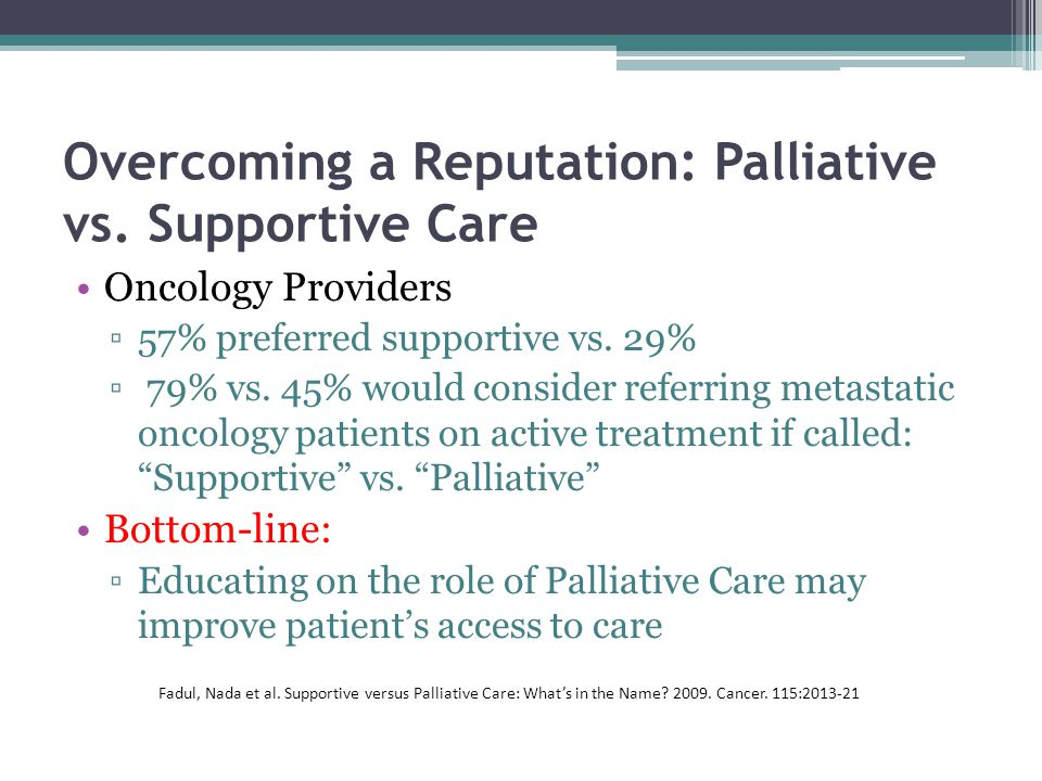 Overcoming a Reputation: Palliative vs.
