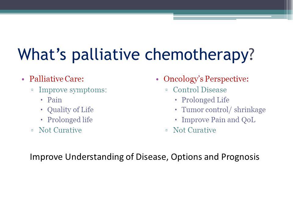 Palliative care vs.