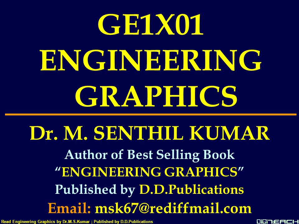 AB60 a'30 a15  35 Read Engineering Graphics by Dr.M.S.Kumar ; Published by D.D.Publications