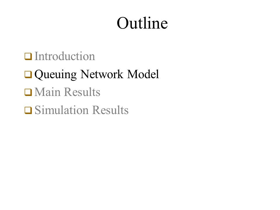 Network and Interference Model  Network consists of n nodes that are distributed uniformly and independently distributed over a unit torus  Transmission rate of each node = W bits/sec  Interference Model: node i can successfully forward a packet to node j only if  r ij r(n)  r jk > r(n) nodes k transmitting simultaneously with i