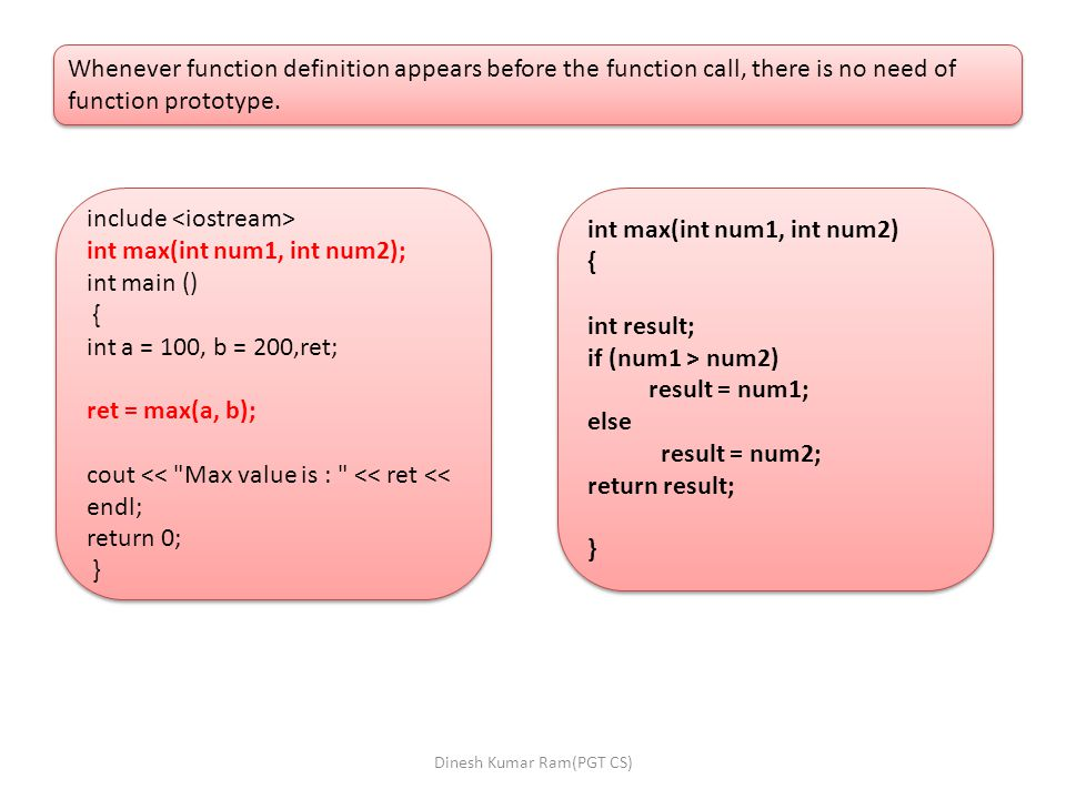 Whenever function definition appears before the function call, there is no need of function prototype.