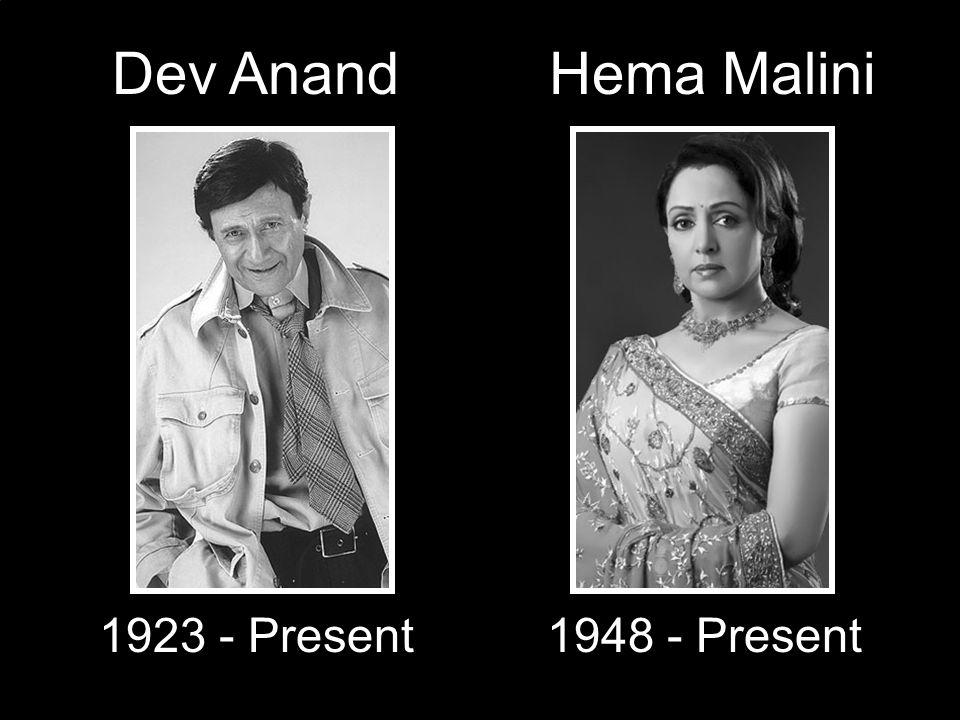 Dev Anand 1923 - Present Hema Malini 1948 - Present