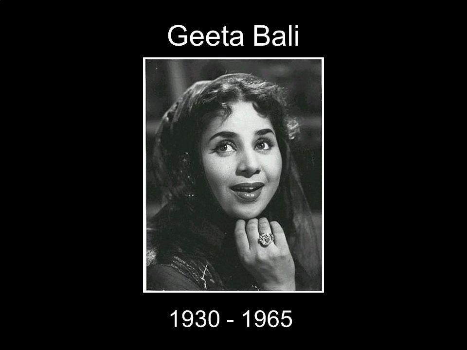 Geeta Bali 1930 - 1965