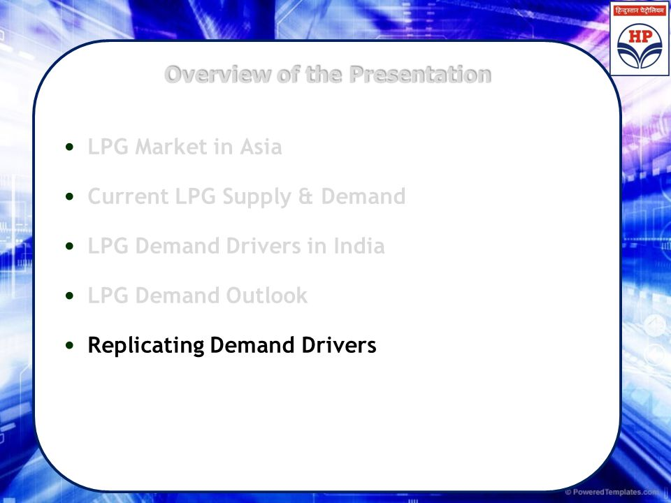 Overview of the Presentation LPG Market in Asia Current LPG Supply & Demand LPG Demand Drivers in India LPG Demand Outlook Replicating Demand Drivers