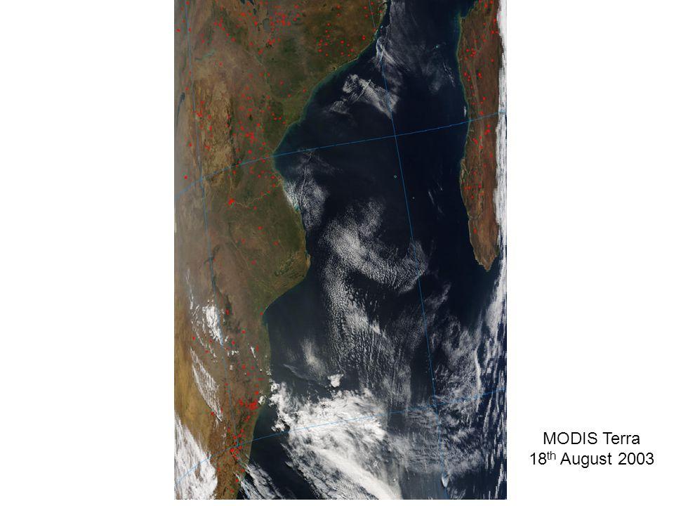 MODIS Terra 18 th August 2003