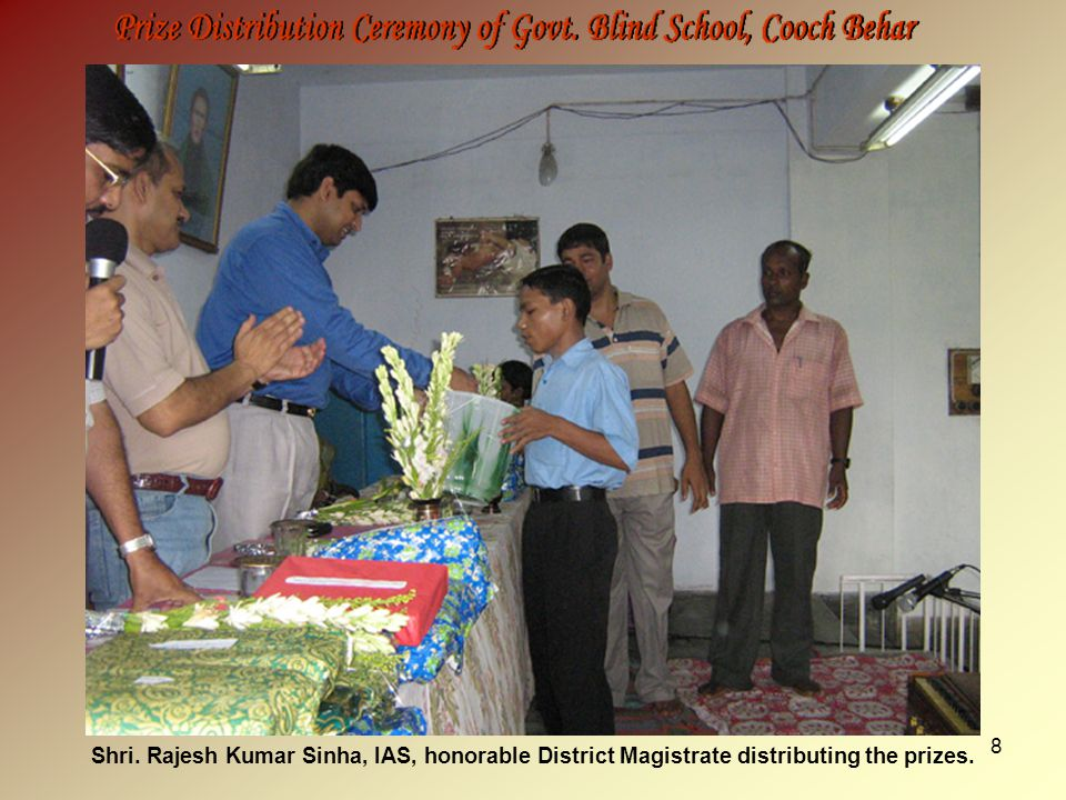 9 Shri. M. K. Seth distributing the prizes to outstanding students.