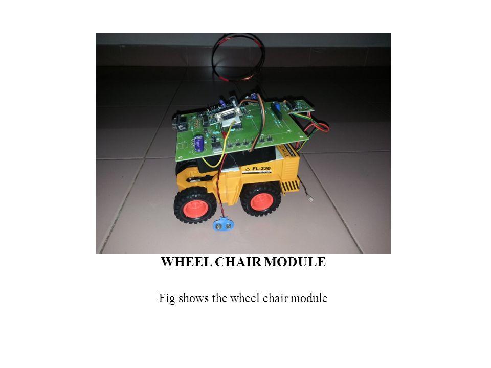 WHEEL CHAIR MODULE Fig shows the wheel chair module