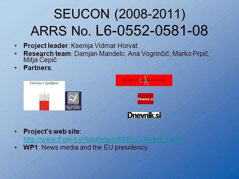 SEUCON (2008-2011) ARRS No.