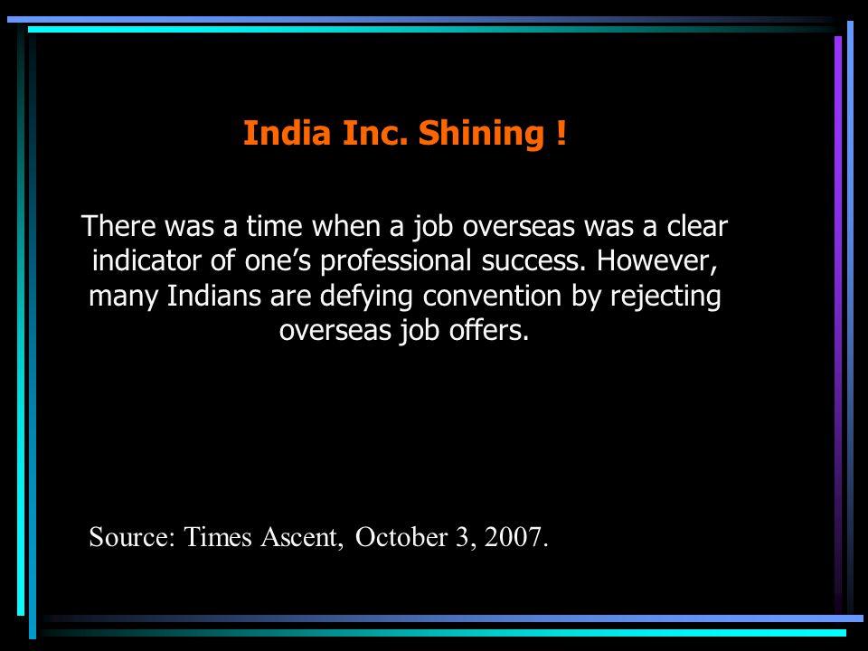 India Inc. Shining .