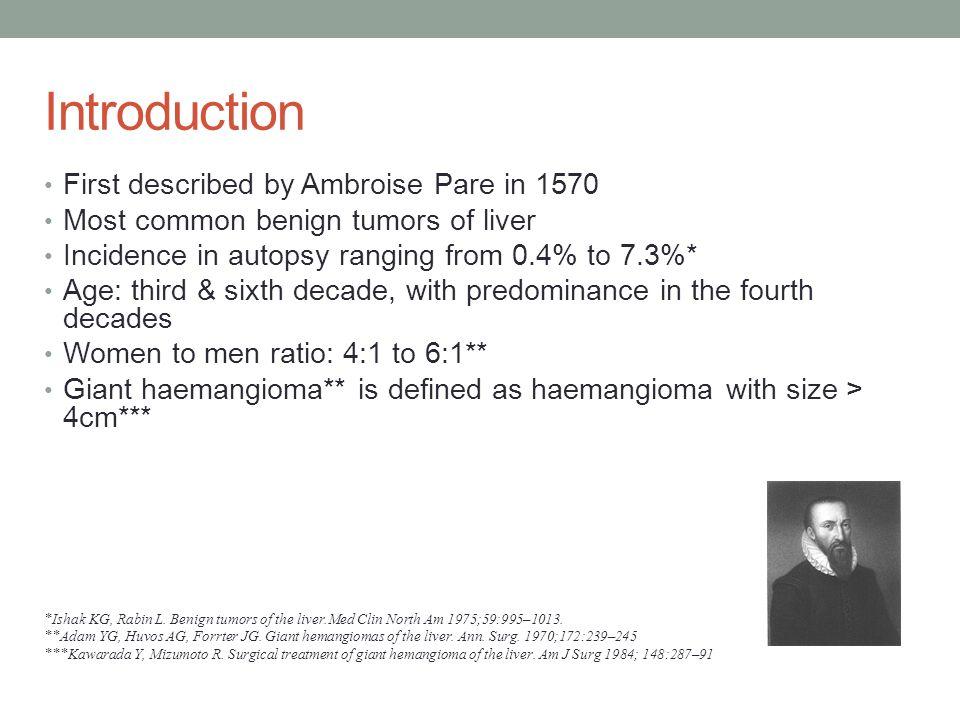 Management of Giant Hepatic Haemangioma Presentation Imaging Indications Treatment Modalities