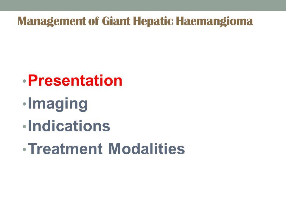 Percutaneous Biopsy Indicated in suspected malignant tumor Risks: tumor rupture, intratumoral bleeding; seeding along the tract, intraperitoneal spread