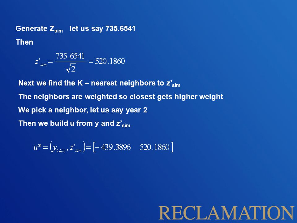 Generate Z sim let us say 735.6541 Then Next we find the K – nearest neighbors to z' sim The neighbors are weighted so closest gets higher weight We p
