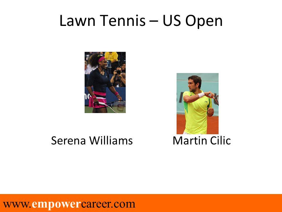 www.empowercareer.com Lawn Tennis – US Open Serena Williams Martin Cilic