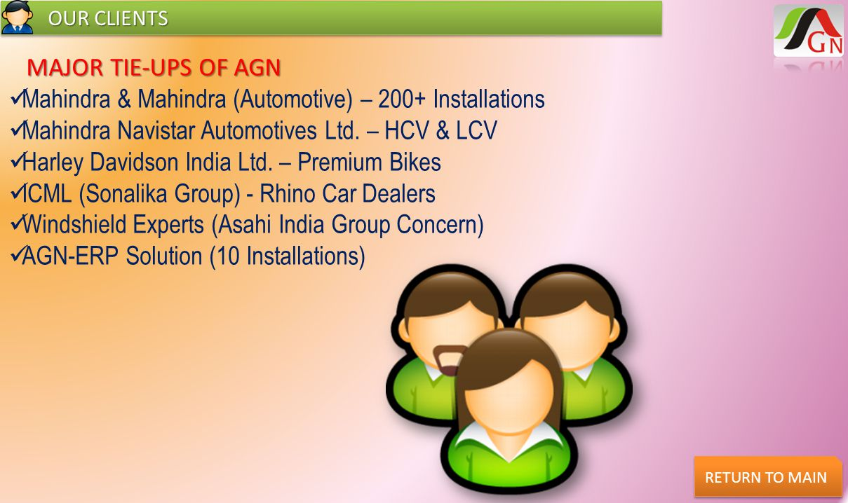 CONTACT US CONTACT US RETURN TO MAIN AGN Software Consultants G-1/68, Neelkanth Colony, Ajmer Road, Jaipur, Pin: 302021, INDIA Contact No.: +91-141-5139223 / 5129223 / 2353318 E-mail: sales@agnsoft.com, support@agnsoft.com www.agnsoft.com