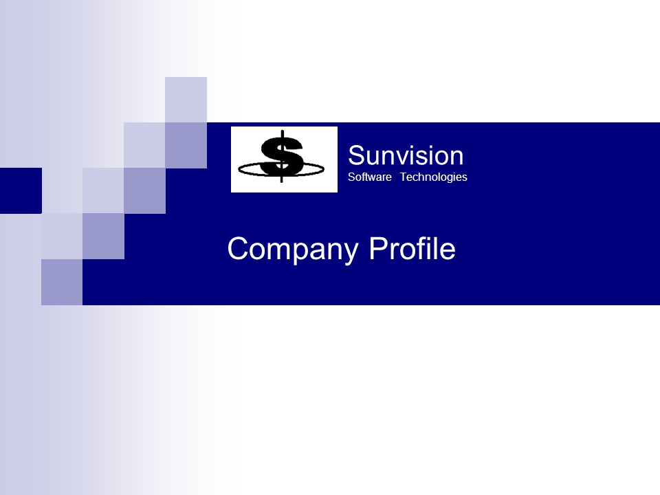 Sunvision Software Technologies Introduction  Sunvision is an IT solution provider having extensive expertise in below domain  Telecom Billing  Utility Billing  ERP Solution for Manufacturing, Education and Hospital segments.