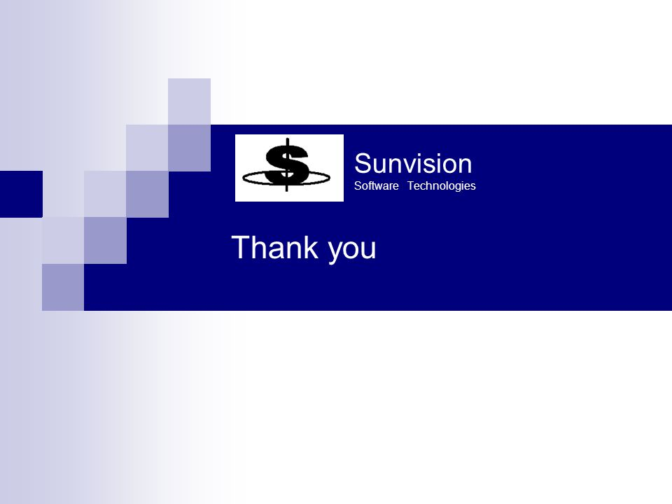 Sunvision Software Technologies Thank you