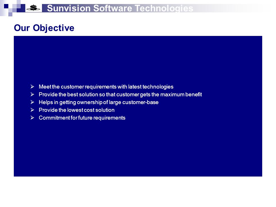 Sunvision Software Technologies Multi Domain Product Web Based ERP Solutions (For Small and Medium Size organizations)  ESM (Enterprise Solution Manager)  EHS (Enterprise Health Solution)  EES (Enterprise Education Solution)