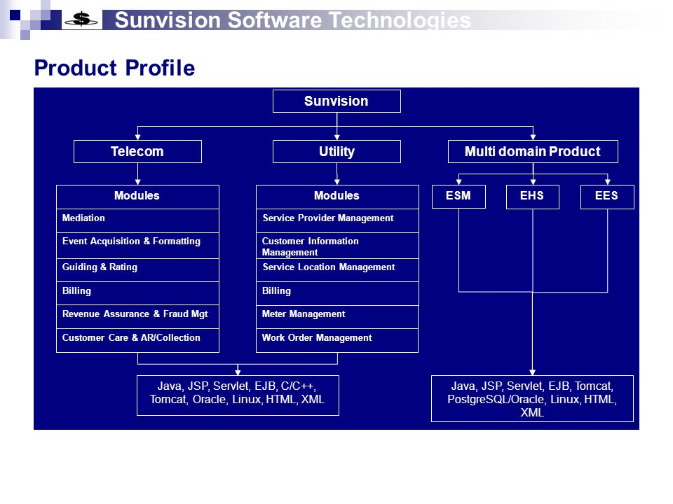 Sunvision Software Technologies Telecom Product (Standard Version) RA & FM DC 2 EAF EPS BLAD CSM AR & Collec tion