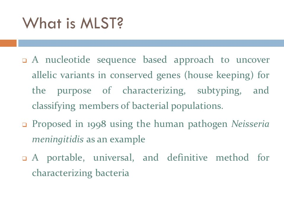 What is MLST.