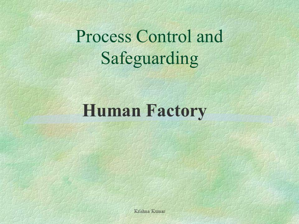 Process Control and Safeguarding Krishna Kumar Human Factory