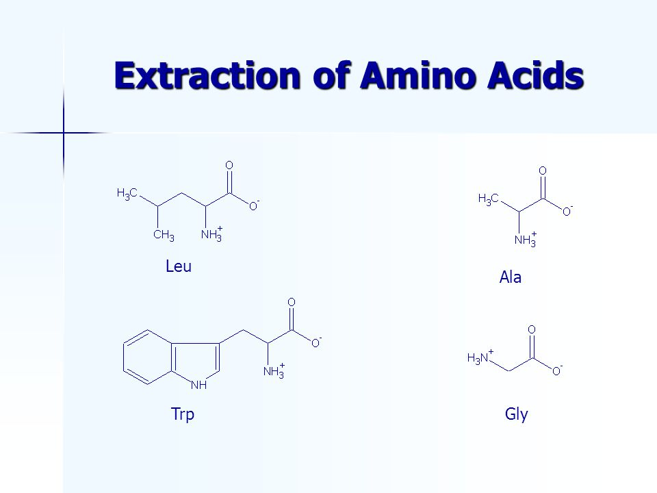 Extraction of Amino Acids TrpGly Ala Leu