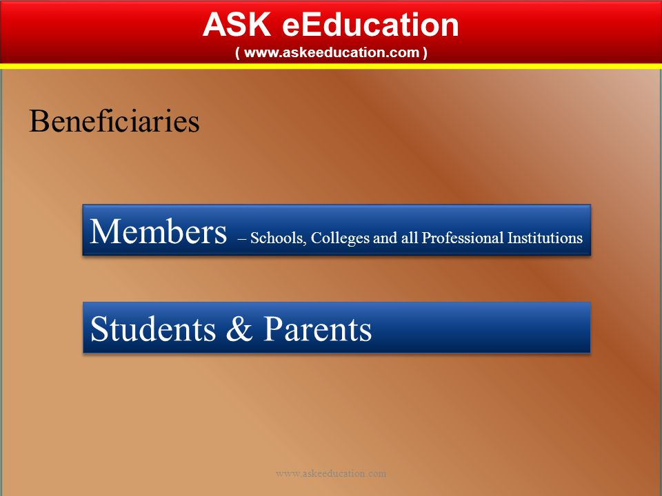 ASK eEducation ( www.askeeducation.com ) From the House of ASK eSolutions Services Pvt.