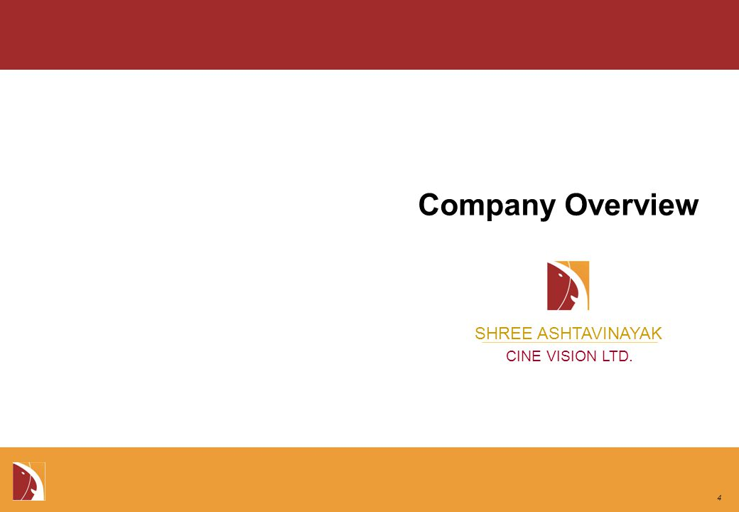 SHREE ASHTAVINAYAK CINE VISION LTD. Company Overview 4