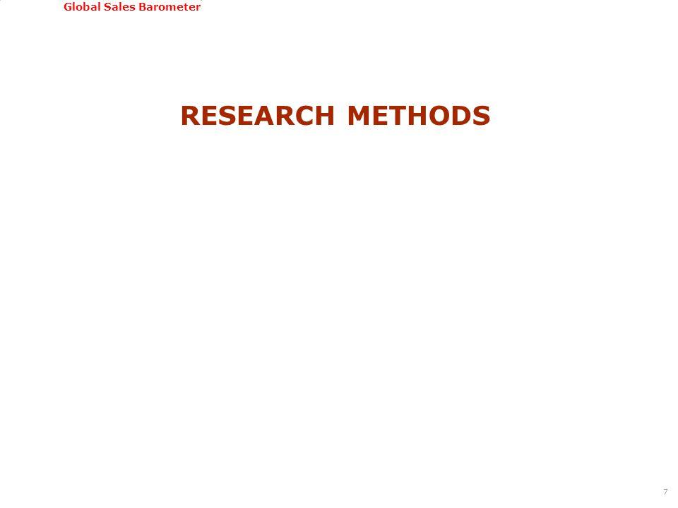 GSSI, June 22-24, 2011 Global Sales Barometer RESEARCH METHODS 7