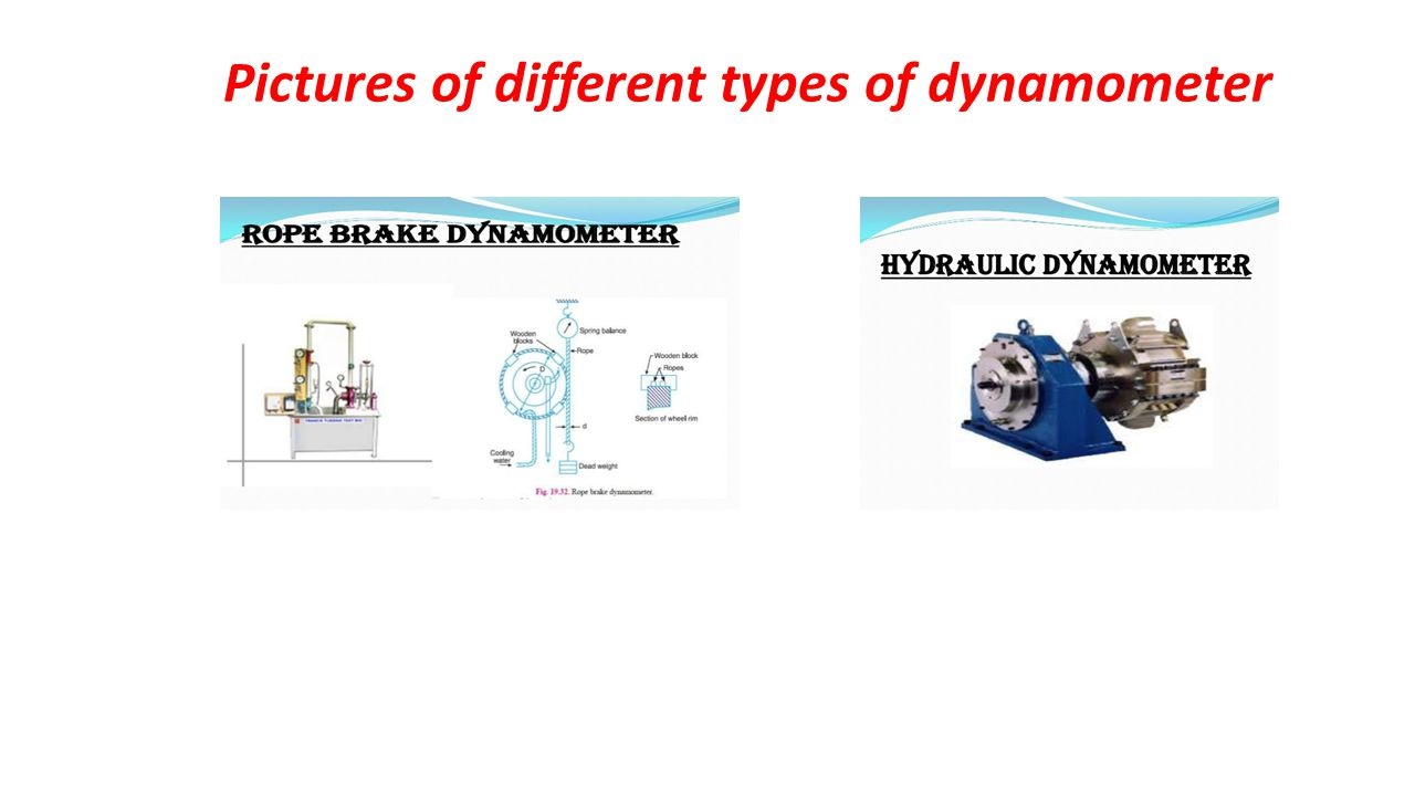 Pictures of different types of dynamometer