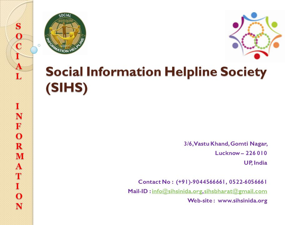 SOCIALINFORMATION Thanks 3/6, Vastu Khand, Gomti Nagar, Lucknow – 226 010 UP, India