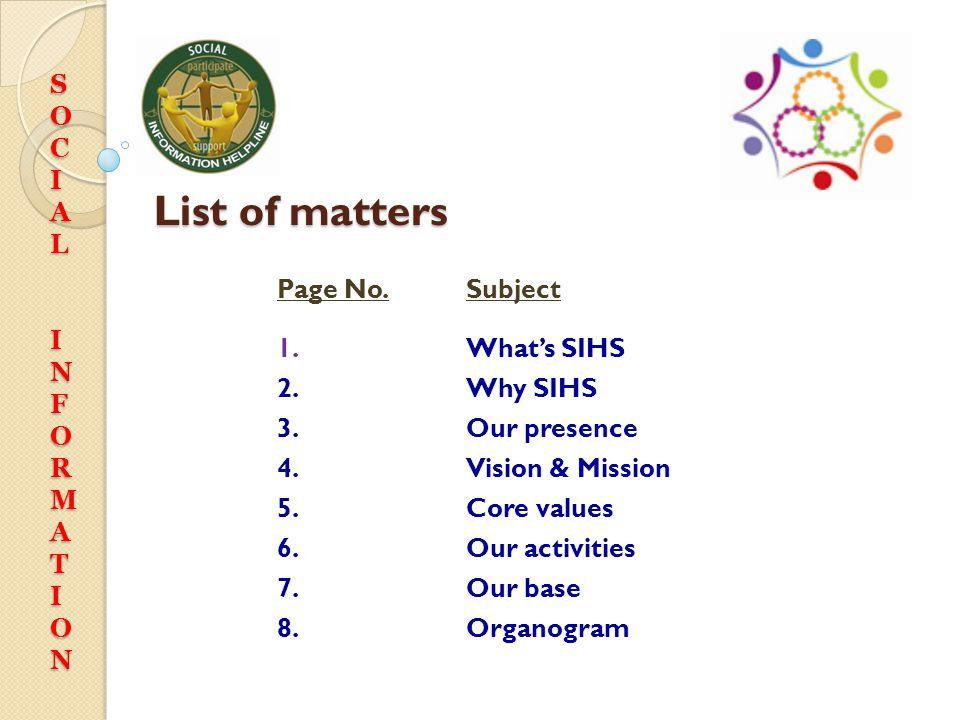 SIHS Social Information Helpline Society (Regd.