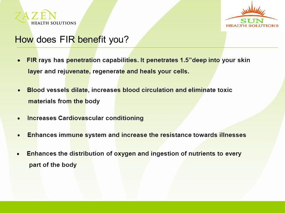 ● FIR rays has penetration capabilities.