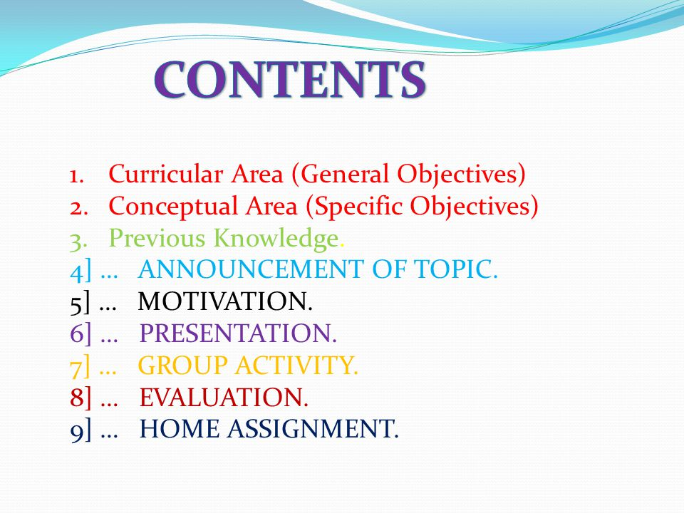 Accomplishment of work & presentation by the group: Students shall be asked to present their experience regarding the above activities through their group leader.